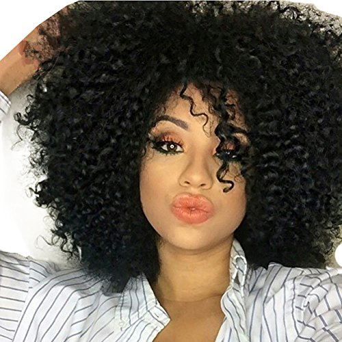 Search : AOSI WIG Curly African American Wigs Hair Heat Resistant Fiber Layered for Black Women Black Hair Wig Afro Wigs