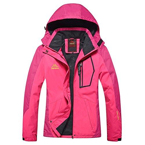 Magcomsen Women's Sportswear Hiking Waterproof Jacket Softshell Hooded Outerwear