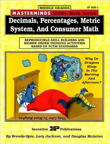 Masterminds Riddle Math for Middle Grades: Decimals, Percentages ...