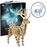 Harry Potter Patronus Book and 3D Wood Model Kit - Build, Paint and Collect Your Own Wooden Model - Great for Kids and Adults, 8+ - 5 1/2'' h