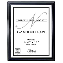 NuDell 10570 8.5-Inch x 11-Inch EZ Mount Document Frame Plastic Face, Black