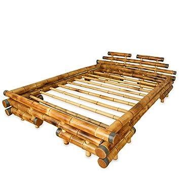 e992e38dcc Bambusbett Bambus Bett 180 x 200 braun massiv Doppelbett Futonbett Holzbett