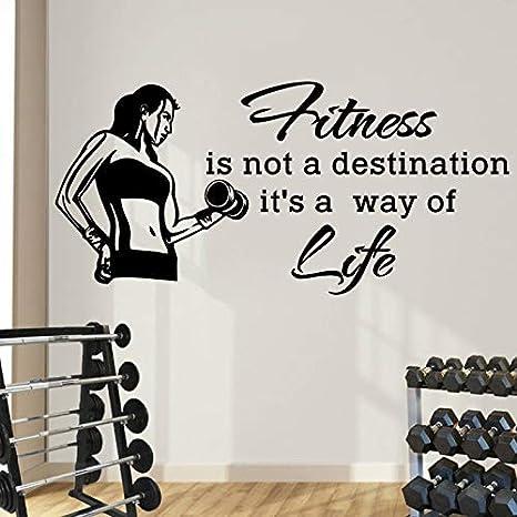 Deportes Tatuajes de pared Cotizaciones Fitness no es un destino ...