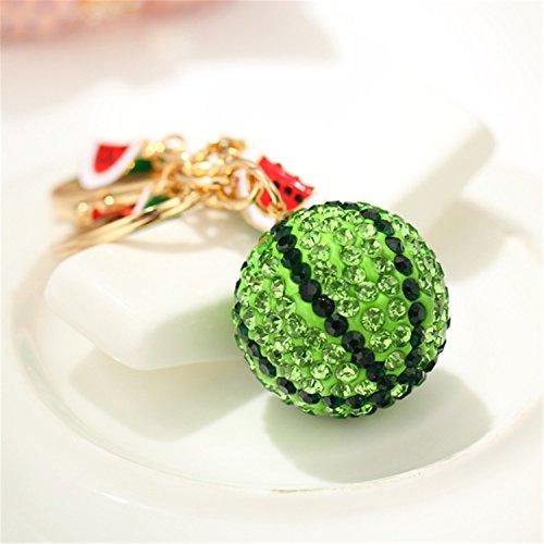 Crystal Watermelon Pendant Car Key Chain Key Jewelry Keyring Fashion Trinket Souvenir Christmas Gift Key Holder Key Finder Bag Decorations