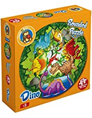 Fluffy Bear RP-5004 Dinosaur Shaped Round Puzzle - 70 Pieces