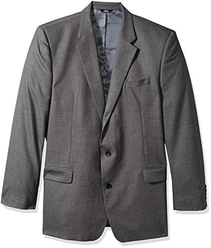 J.M. Haggar Men's Tall Size J.M. Premium Performance Stretch Stria 2-Button Suit Separate Coat, Medium Grey, 44XL (Mens Sport Coat Gray)
