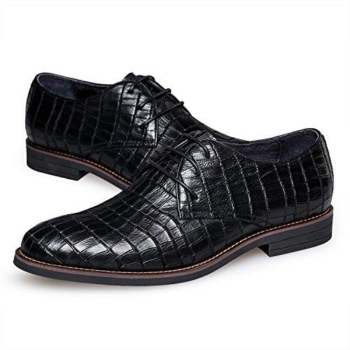 Zro Herenmode Lederen Zakelijke Schoenen Comfortabel Zwart
