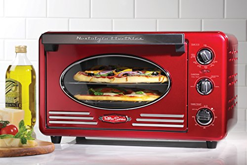 Nostalgia RTOV220RETRORED Retro Series 6-Slice Convection Toaster Oven (Small Toaster Oven Red compare prices)