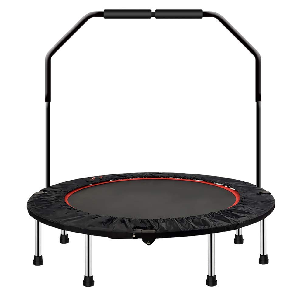 soges Gym Trampoline Rebounder Fitness Trampoline for Adult or Kids Folding Trampoline for Home Exercise Abrasion Resistant Supports Up to 330 Pounds 48 inches with Handle, PSBC-004 by soges