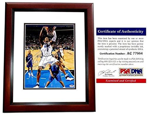 Dwight Howard Signed - Autographed Orlando Magic 11x14 inch Photo - MAHOGANY CUSTOM FRAME - PSA/DNA Certificate of Authenticity (COA) ()