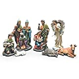 Complete Christmas Nativity Figurine Set, 12 Inch, 7 Piece Set