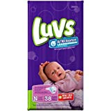 Health & Personal Care : Luvs Ultra-Absorbent Leakguard Diapers Newborn 38 Diapers