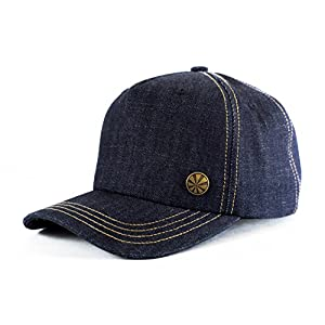 Mod Mason Premium All Denim Trucker Hat, High Profile & Structured, Large Fit, Snapback Baseball Cap