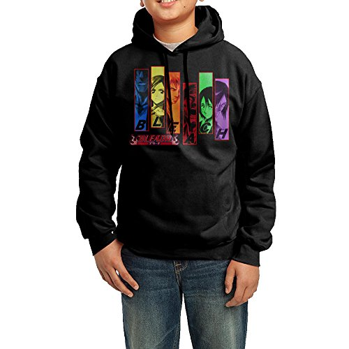 Price comparison product image Funny Black Hoodies Bleach Logo Juniors Cute Hoodies For Adolescent