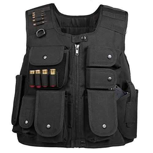 Weize SWAT Vest Adult Law Enforcement Tactical Vest for Airsoft Training Battle Military