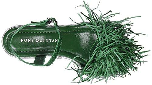 Pons Quintana Signore 6978.000 Cinghia Sandali Verde (verde 441)