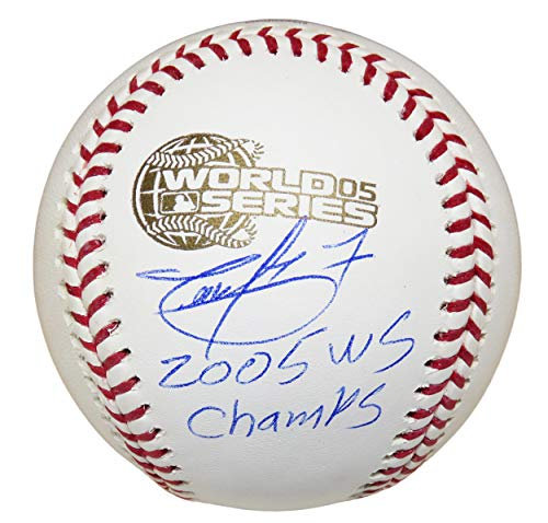 - Timo Perez Signed Baseball - Rawlings Official 2005 World Series w 05 WS Champs - Autographed Baseballs