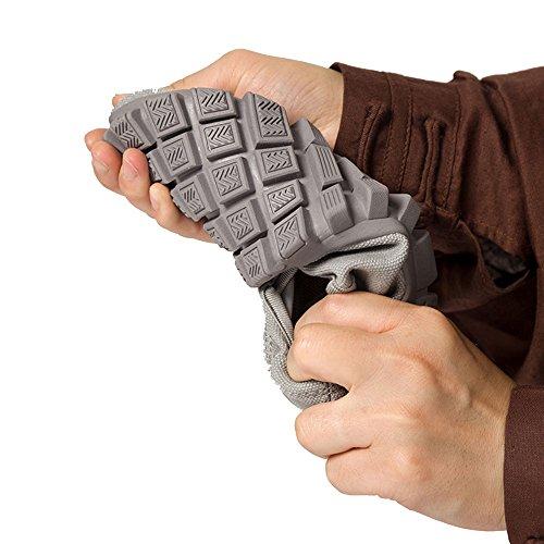 ZOOBOO budista doble–Zapatos de monje Shaolin artes marciales zapatos Kung Fu Zapatillas suela de goma antideslizante calzado transpirable y cómodo para UNISEX gris