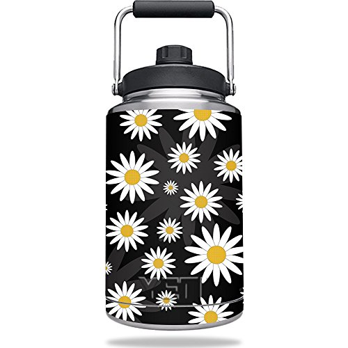 Daisy Jug - Skin for YETI Rambler One Gallon Jug - Daisies | MightySkins Protective, Durable, and Unique Vinyl Decal wrap cover | Easy To Apply, Remove, and Change Styles | Made in the USA