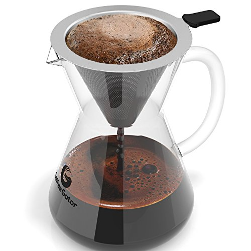 Coffee Gator Pour Over Coffee Maker, 400ml/3-Cup (Bean Pot Kettle compare prices)
