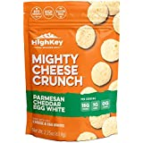 Parmesan Cheddar Egg White Cheese Crisps - Low Carb, Gluten Free, High Protein Healthy Cheese and Egg Snack – Savory, Keto & Diet Friendly Cheese Crunch with Natural Ingredients Pack of 4, 2.25oz Bags