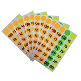 BBX Garage Sale Labels Neon Colors, Dia 0.75 Inches, Pack of 700, Sold as 2 Pack, Prepriced Garage Sales Stickers
