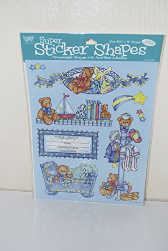 Sweet Boy Frances Meyer Super Sticker Shapes Lucy Rigg Baby Scrapbooking - Scrapbooking Meyer Frances Stickers
