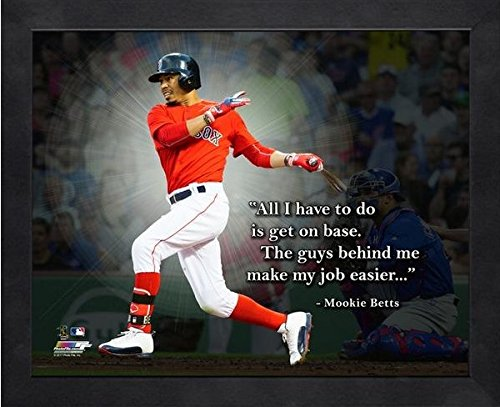 Mookie Betts Boston Red Sox ProQuotes Photo (Size: 12