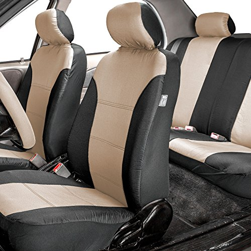 Car Bench Seat Covers >> FH Group FH-FB065115 Classic Khaki Full Set Car Seat ...