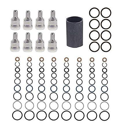 High Pressure Oil Rail Ball Tube Repair kit TOOL /& ORINGS For 03-10 Ford 6.0L