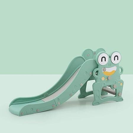 GLY Tobogan Infantil Tobogan Niños Jardin Columpios Infantiles Frog Tobogan para Piscinas Tobogan Infantil con Aro De Baloncesto, Escaleras Antideslizantes For Niños Juguetes For Niños De 2 Años: Amazon.es: Hogar