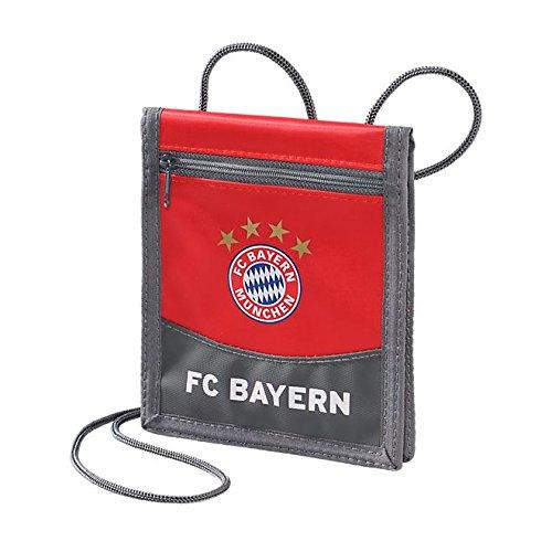 FC Bayern München Brustbeutel, Portmonee, Geldbörse rot - Plus gratis Lesezeichen I Love München