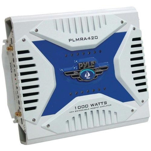 PYLE PLMRA420 Waterproof Marine Bridgeable MOSFET Amp (4-Channel; 1,000 Watt)