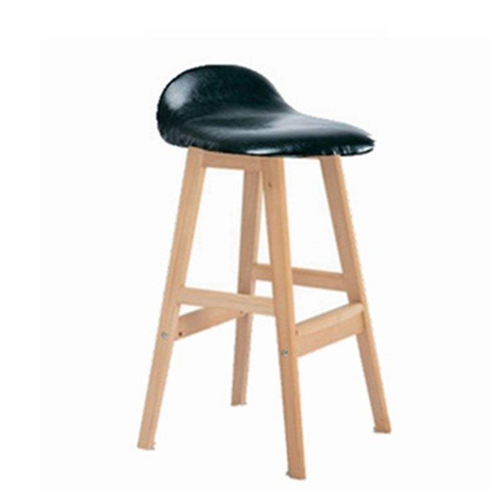 Dertyped Upholstered Padded stools Solid Wood Bar Backrest High Stools Breakfast Kitchen Counter Chair Bar Stool Ideal for Home stools Home Living Room Bedroom