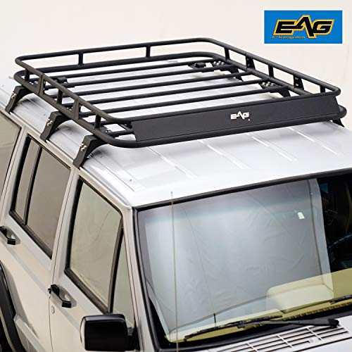 EAG Roof Rack Cargo Basket for 84-01 Jeep Cherokee XJ