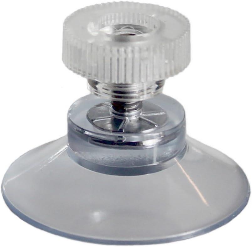 10 ventosas de 30 mm de diámetro con rosca de 6 mm y tuerca moleteada.