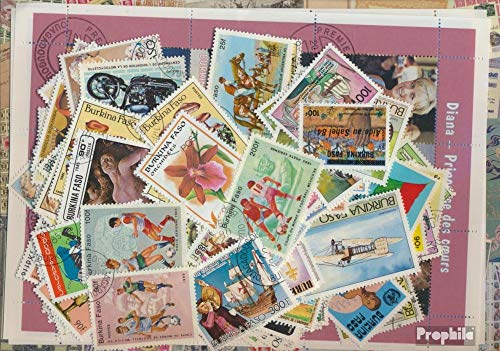 Burkina Faso 250 Different Stamps (Stamps for ()