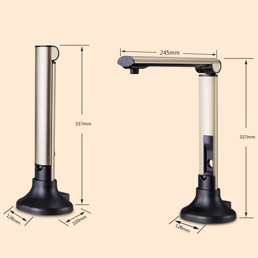 DINGYI Professional Document Camera Scanner High Speed 5 Mega-Pixel HD High-Definition Max. A3 Scanning Size LED Light Teacher Classroom Office Library Bank Shanwo
