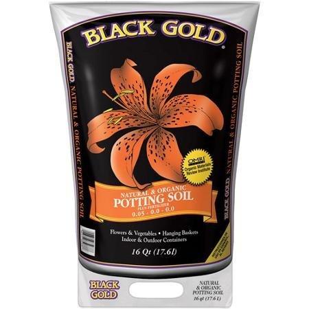 Black Gold 1402040 16 QT U 16 Quart All Organic Potting Soil -