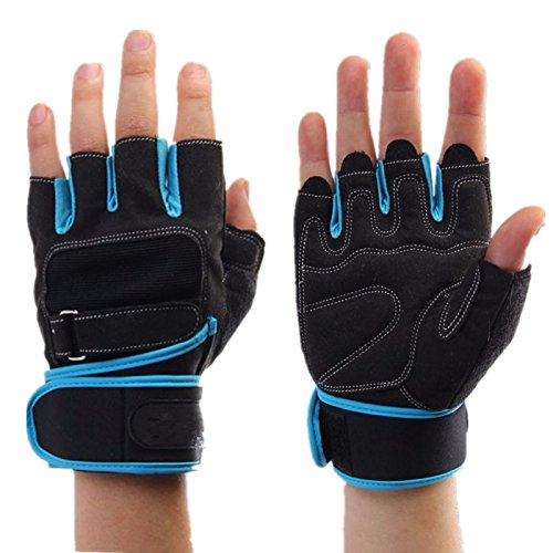 Gold Happy Weight Lifting Gym Gloves Men Sports Gloves Fitness Workout Exercise Training Protect Wrist Weightlifting Gloves Dumbbells