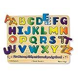Melissa & Doug Alphabet Sound Puzzle - Wooden  Puzzle With Sound Effects (26 pcs)