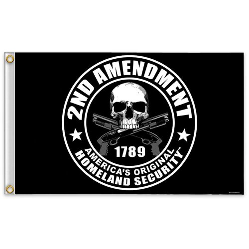 2nd Amendment America's Original Homeland Security Polyester 3 x 5 Foot Flag (Basic pack)
