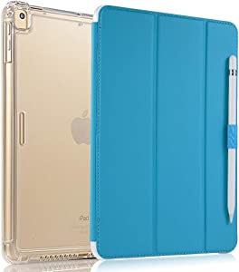 valkit iPad Pro 11 Case 2018 (1st Gen, Old Model), Support Apple Pencil Charging, Protective Smart Folio Stand Cases with Auto Sleep/Wake for Apple iPad Pro 11 Inch 2018, Sky Blue