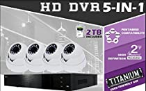 4 CH HD-TVI DVR System w/ 2TB HDD & 4 x2.4MP IR Dome Cameras