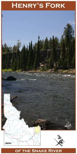 Henry's Fork of the Snake River 11x17 Fly Fishing Map