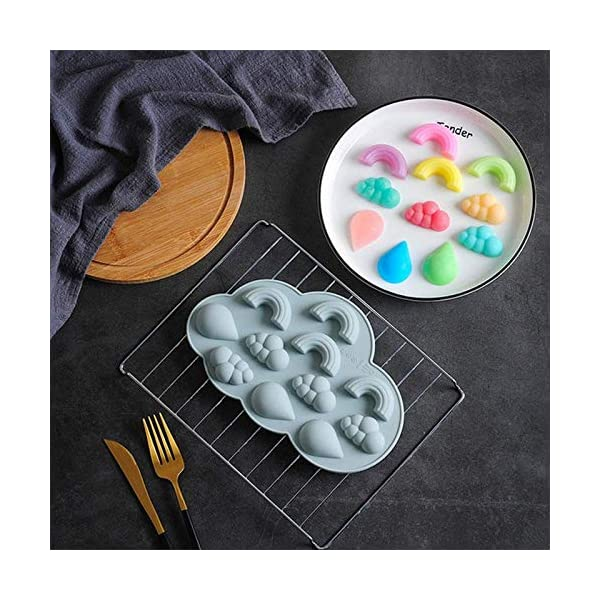 UMTGE - Vaschetta per cubetti di ghiaccio, in silicone e flessibile, 11 vassoi per ghiaccio, per bambini, con caramelle… 2 spesavip
