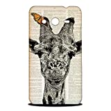 Foxercase Designs Giraffe On Newspaper Hipster Hard Back Case Cover for Samsung Galaxy Core 2