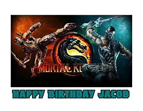 Mortal Kombat Sub-Zero Scorpion Image Photo Cake Topper