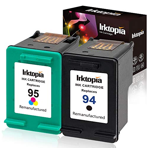 (Inktopia Remanufactured Ink Cartridges Replacement for HP 94 and HP 95 C9354BN C8765WN C8766WN for HP Officejet 150 100 H470 9800 7310 7210, Deskjet 460, PSC 1610 2355, 2 Pack (1 Black, 1 Tri-Color))
