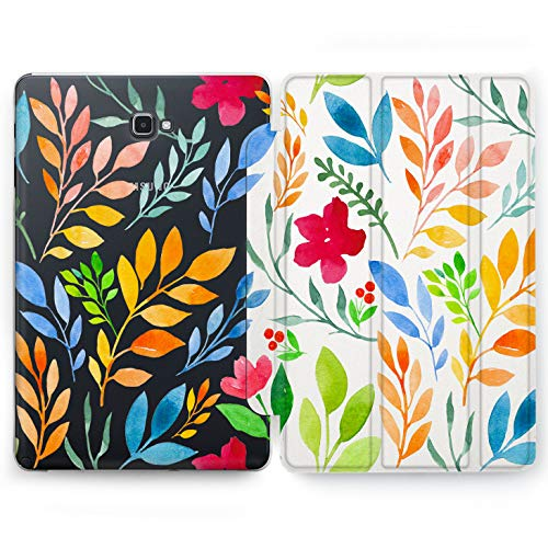 Bush Ornament (Wonder Wild Watercolor Branch Samsung Galaxy Tab S4 S2 S3 A E Smart Stand Case 2015 2016 2017 2018 Tablet Cover 8 9.6 9.7 10 10.1 10.5 Inch Clear Design Natural Colorful Leaves Plants Ornament Bushes)